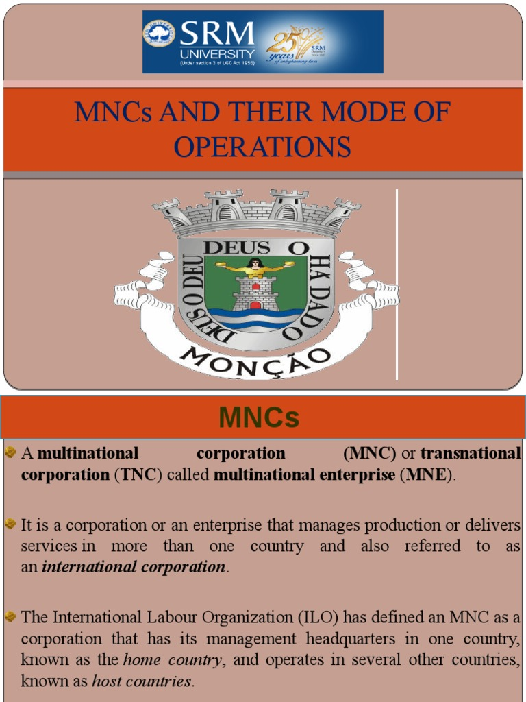 role of mncs