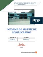 Matriz de Involucrados Quichuas