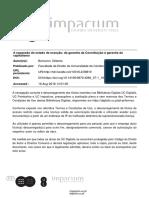 Gilberto Bercovici a Expansao Do Estado de Excecao Da Garantia Da Constituição à Garantia Do Capitalismo