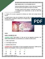 Avisos y Tareas Semana Del 21 Al 25 de Enero Del 2019