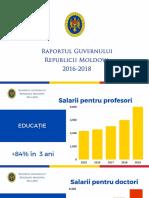 Raportul guvernului 2016-2018