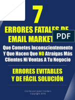 Siete Errores en El Email Marketing
