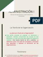 Teoría de Las Organizaciones y La Administración de Las Empresas