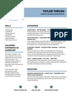 taylorthrush resume