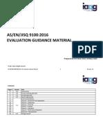 Auditor Guidance 9100 2016