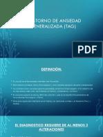 Trastorno de Ansiedad Generalizada (Tag)