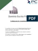 Fiscal - Configuração de Acumuladores