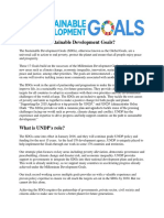Background on the Goals SDG's