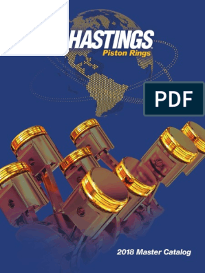Hastings 4478030 6-Cylinder Piston Ring Set