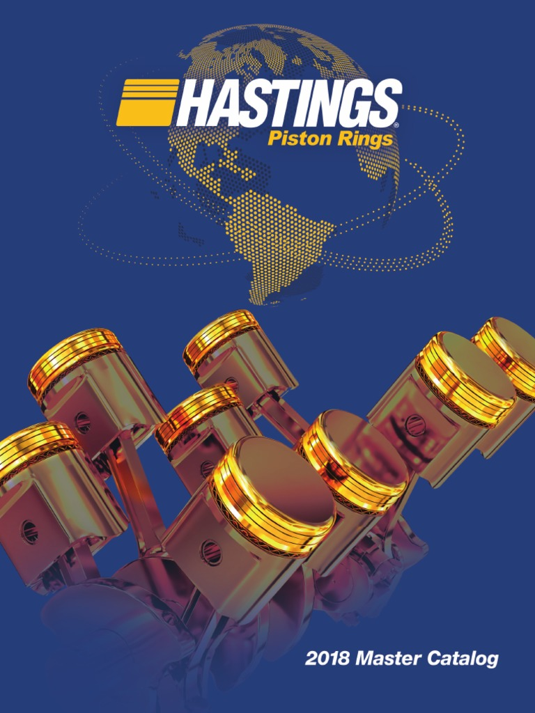 Hastings 671010 8-Cylinder Piston Ring Set