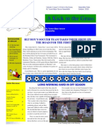 A Kick in the Grass, RL Turner Boys' Soccer Newsletter