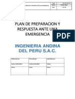 Plan de Preparacion y Respuesta Ante Una Emergencia