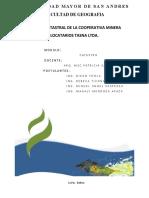 SISTEMA CATASTRAL DE LA COOPERATIVA MINERA  LOCATARIOS TASNA LTDA.