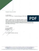 FEHIERRO - Carta en Ingles Para MAS Ratificando Productos