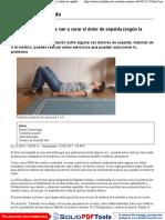 Los 8 ejercicios que te van a curar el dolor de espalda (según la clínica Mayo). Noticias de Alma, Corazón, Vida.pdf