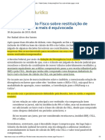 ConJur - Rafael Santos_ a Interpretação Do Fisco Sobre Tributos Pagos a Mais