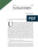 ACERCA DEL VALOR MORAL DE LA SEGURIDAD JURÍDICA
