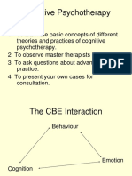 Cognitive Psychotherapy