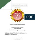 proyecto ambiental petcientízate