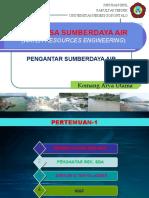 REKAYASA SUMBERDAYA AIR [Kuliah-1]-Pengantar Rekayasa Sumberdaya Air