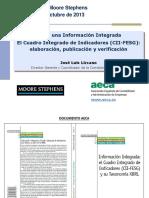 Hacia una Información Integrada El Cuadro Integrado de Indicadores (CII-FESG)