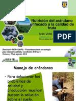 1. Nutricion Del Arandano Enfocado a La Calidad de Fruta. Ivan Vidal P.