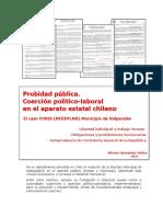 Coercion Politico Laboral en El Aparato Publico