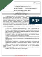 Padrao Resp Provisoria PV Discursiva Questao 2 Cargo 1 Analista Controle Administracao