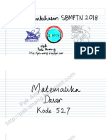 Pembahasan Soal SBMPTN 2015 Matematika IPA Kode 522 (Full Version)