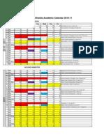 Academic Calendar 2010 -2011