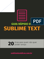 Guia Rápido Do Sublime Text