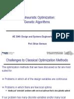 19 Metaheuristic Opt--Genetic Algorithms