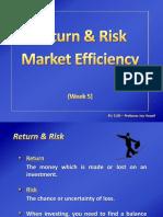 week 5 - risk   return market efficiency