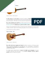 Trabalho de Musica - Tipos de Violão