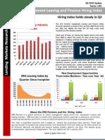 q3 2010 Leasing Industry Hiring Index