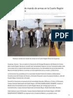 11-12-2018 Realizan cambio de mando de armas en la Cuarto Región Naval de Guaymas - Opinión Sonora