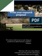 2 Write Research Proposal Sem1