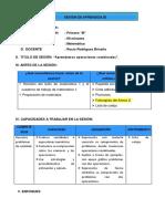 Sesion de Amprendizaje Modelo Operaciones Combinadas