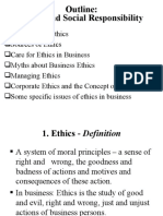 1. Ethics and CSR