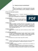 Regras Do Projeto de Intervenc