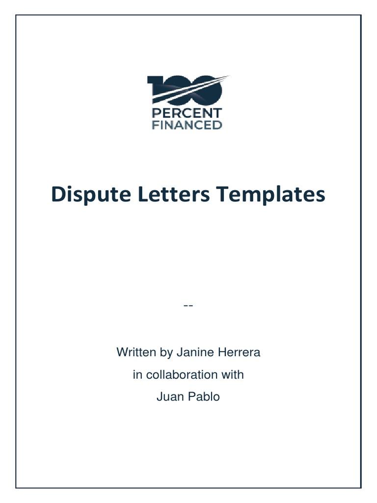 the dispute letters templatespdf