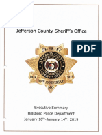 Jefferson County Sheriff's Office executive summary of Hillsboro investigation