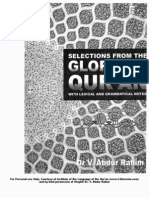 Selections from the Glorious Quraan with Lexical and Grammatical Notes