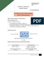 Statistical Mechanics Notes UKM