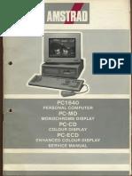 Amstrad PC1640 PC-MD PC-CD PC-ECD Service Manual 300dpi Agujereado