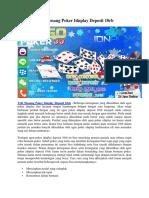 Trik Menang Poker Idnplay Deposit 10rb