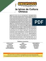 Sopa de Letras de Cultura Olmeca