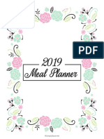 Meal planner 2019