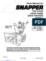 Snapper manual snow thrower