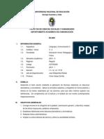 Sílabo - Lenguaje y Comunicación II